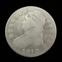 1810 CAPPED BUST HALF DOLLAR 50c VG8