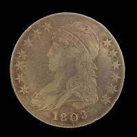 1808 CAPPED BUST HALF DOLLAR 50c VF35