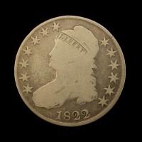 1822 CAPPED BUST HALF DOLLAR 50c G6
