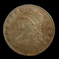 1826 CAPPED BUST HALF DOLLAR 50c EF48