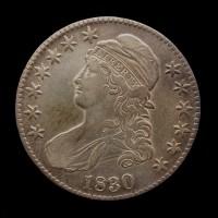 1830 Lg0 CAPPED BUST HALF DOLLAR 50c EF40
