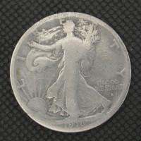 1916-S WALKING LIBERTY HALF DOLLAR 50c G6