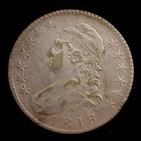 1818/7 Lg8 CAPPED BUST HALF DOLLAR 50c EF45