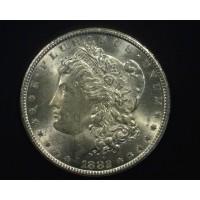 1882-CC MORGAN DOLLAR $1 MS63+ White