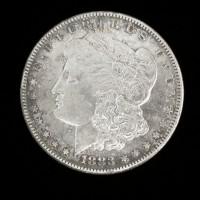 1883-S MORGAN DOLLAR $1 EF48