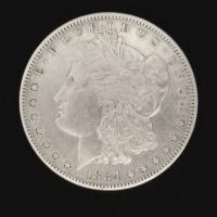 1884-S MORGAN DOLLAR $1 EF40