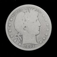 1892-O BARBER HALF DOLLAR 50c G/AG