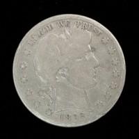 1892-S BARBER HALF DOLLAR 50c VG/AG