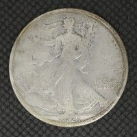 1921-S WALKING LIBERTY HALF DOLLAR 50c F/VG