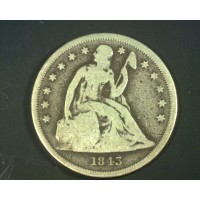 1843 LIBERTY SEATED DOLLAR $1 G6