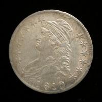 1810 CAPPED BUST HALF DOLLAR 50c AU53