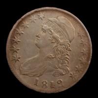 1812 CAPPED BUST HALF DOLLAR 50c EF40