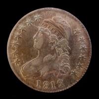1812 CAPPED BUST HALF DOLLAR 50c EF48