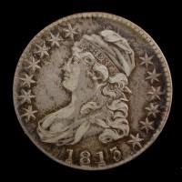 1813 CAPPED BUST HALF DOLLAR 50c EF43