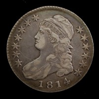 1814 CAPPED BUST HALF DOLLAR 50c EF40