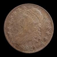 1821 CAPPED BUST HALF DOLLAR 50c AU53