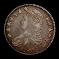 1822 CAPPED BUST HALF DOLLAR 50c EF40
