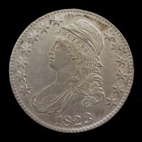 1823 CAPPED BUST HALF DOLLAR 50c EF48