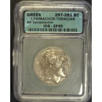GREECE-THASOS, 297-81BC Tetradrachm EF40 AR of Lysimachos