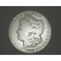 1893-CC MORGAN DOLLAR $1 AG/VG