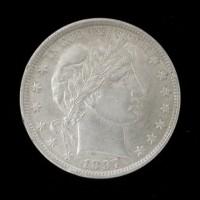 1897 BARBER HALF DOLLAR 50c AU58
