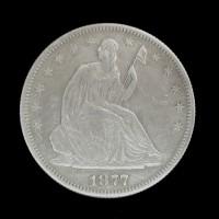 1877-S LIBERTY SEATED HALF DOLLAR 50c AU50