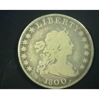 1800 Wide Date DRAPED BUST/HERALDIC DOLLAR $1 VG10