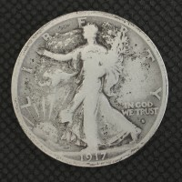 1917-S Obv WALKING LIBERTY HALF DOLLAR 50c VG8