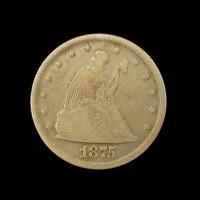 1875 LIBERTY SEATED TWENTY CENT 20c VG8
