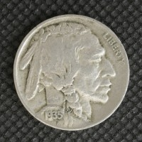1935-D BUFFALO NICKEL 5c (Nickel) VF20