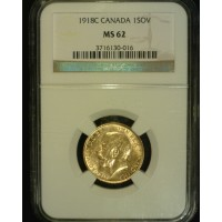 CANADA, 1918C 1 Sov MS62 NGC