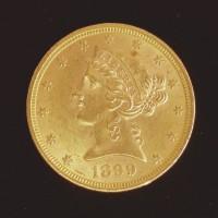 1899 LIBERTY $5 GOLD $5 MS63+