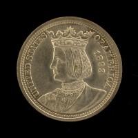 1893 Isabella 1/4$ AU58