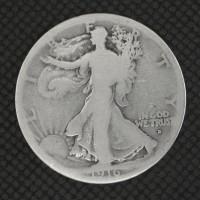 1916-D WALKING LIBERTY HALF DOLLAR 50c G4