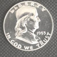1953 FRANKLIN HALF DOLLAR 50c PF64