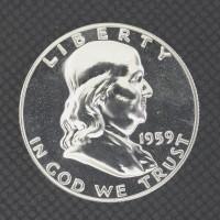 1959 FRANKLIN HALF DOLLAR 50c PF64