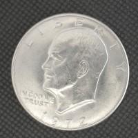 1972-D EISENHOWER DOLLAR $1 MS63