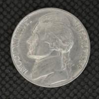 1939 Rev of 1940 JEFFERSON NICKEL 5c (Nickel) AU50