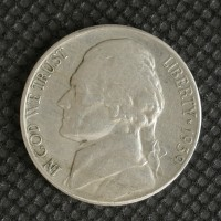 1939-S Rev of 1940 JEFFERSON NICKEL 5c (Nickel) EF40