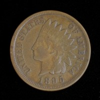 1895 INDIAN CENT 1c VF30