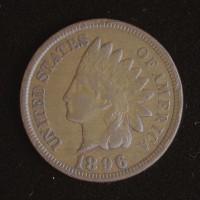 1896 INDIAN CENT 1c EF40