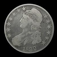 1832 SL CAPPED BUST HALF DOLLAR 50c F12