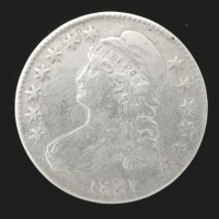1831 CAPPED BUST HALF DOLLAR 50c VF20