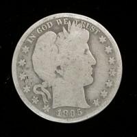 1895 BARBER HALF DOLLAR 50c G/AG
