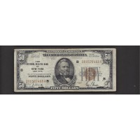 1929 $50 FEDERAL RESERVE BANK NOTE $50 VG8