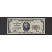 1929 $20 FEDERAL RESERVE BANK NOTE $20 F18