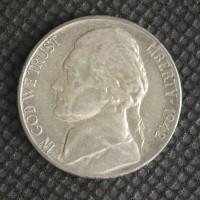 1942-S JEFFERSON NICKEL 5c (Nickel) AU50