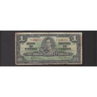 CANADA, 1937 $1 VG8 P58d