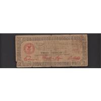 PHILIPPINES-MINDANAO, 1943 2 Pesos G6 PS486e