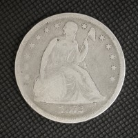 1872 LIBERTY SEATED DOLLAR $1 G5